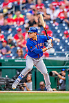 22 September 2018: New York Mets outfielder Michael Conforto at bat against the Washington Nationals at Nationals Park in Washington, DC. The Nationals shut out the Mets 6-0 in the 3rd game of their 4-game series. Mandatory Credit: Ed Wolfstein Photo *** RAW (NEF) Image File Available ***