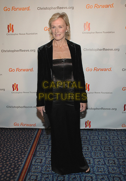 "GLENN CLOSE.Annual Christopher Reeve Foundation Gala, ""A Magical Evening"" at the Marriott Marquis intimes Square in Manhattan, New York, New York . .November 17th, 2005.Photo Credit: Patti Ouderkirk/AdMedia/Capital Pictures.Ref: PO/ADM.full length black dress jacket .www.capitalpictures.com.sales@capitalpictures.com.© Capital Pictures."