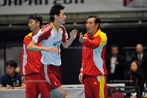 Zhou Jianan Head coach (CHN),..DECEMBER 2,2011 - Volleyball : FIVB Men's Volleyball World Cup 2011,4th Round Tokyo(B) during match between Cuba 3-2 China at Tokyo Metropolitan Gymnasium, Tokyo, Japan. (Photo by Jun Tsukida/AFLO SPORT) [0003]