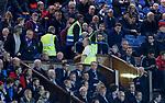 Stewards move towards the directors box after Kilmarnock score