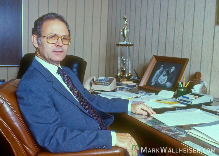 Historic photo of J.T. Williams, Jr. president of Killearn Properties and developer of the Killearn and Killearn Lakes neighborhoods on December 15, 1983.