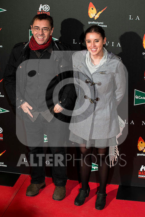 "Juan Carlos Monedero and Irene Monteroattends to the premiere of the spanish movie ""La Novia"" at Callao City Lights in Madrid, December 01, 2015<br /> (ALTERPHOTOS/BorjaB.Hojas)"