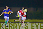 James Donoghue(Cordal) and Eric O'Connor(Mountcollins) at the 1st match under lights last Friday night in Mountcollins GAA