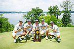 MUSCLE SHOALS, AL - MAY 25: Lynn poses with the championship trophy during the Division II Men's Team Match Play Golf Championship held at the Robert Trent Jones Golf Trail at the Shoals, Fighting Joe Course on May 25, 2018 in Muscle Shoals, Alabama. Lynn defeated West Florida 3-2 to win the national title. (Photo by Cliff Williams/NCAA Photos via Getty Images)