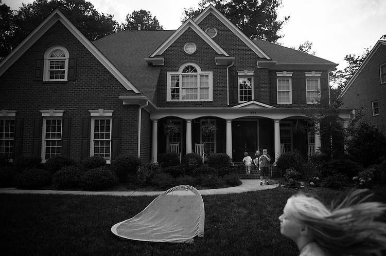 "The O'Loughlin Family lives in suburban Cary, North Carolina on a row of similarly built houses, but nothing is similar about the O'Loughlin Family...""Marcus and his autism are all my children have really ever known,"" Erin said.  ""Autism has always been a part of our lives, so its just a part of who they are.  I know they take in and absorb everything that goes on in our house with Marcus, except that they cope with it with the coping skills of a child.  We try our hardest to balance the needs of Marcus, versus Jordan and Brendan's needs, versus our marital needs, versus our family needs and it's all a huge balancing act."""