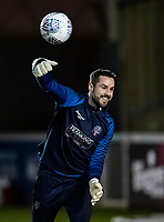 Bolton Wanderers' Remi Matthews warming up before the match <br /> <br /> Photographer Andrew Kearns/CameraSport<br /> <br /> The EFL Sky Bet League One - Lincoln City v Bolton Wanderers - Tuesday 14th January 2020  - LNER Stadium - Lincoln<br /> <br /> World Copyright © 2020 CameraSport. All rights reserved. 43 Linden Ave. Countesthorpe. Leicester. England. LE8 5PG - Tel: +44 (0) 116 277 4147 - admin@camerasport.com - www.camerasport.com