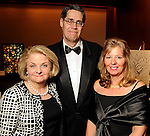 From left: Mary McLeary with Glenn and Maria Weiss at the 2011 Art League Houston Gala at the Omni Hotel Friday Nov. 11,2011.(Dave Rossman/For the Chronicle)