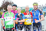 Pat Boyce, Shane McGrath, Michelle and Patrick O'Keeffe and Sean Lehane enjoying an ice cream rest in Sneem during their Ring of Kerry cycle on Saturday morning