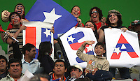 Chile, Temuco: Fans of Usa's team, look at the match, during the final match on the group, Fifa U-20 Womens World Cup the at German Becker stadium in Temuco , on November 26 2008. Photo by Grosnia/ISIphotos.com