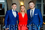 Paul O'Sullivan, Shaunagh Cournane and Ciaran O'Connell, pictured at the Austin Stacks social held at The Rose Hotel, Tralee, on Saturday night last.