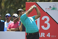 Shubhankar Sharma (IND) in action on the 13th during Round 4 of the Hero Indian Open at the DLF Golf and Country Club on Sunday 11th March 2018.<br /> Picture:  Thos Caffrey / www.golffile.ie<br /> <br /> All photo usage must carry mandatory copyright credit (&copy; Golffile | Thos Caffrey)