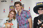 """Kerry Butler - Aaron Tveit - Linda Hart attend Broadway Barks Lucky 13th Annual Adopt-a-thon - A """"Pawpular"""" Star-studded dog and cat adopt-a-thon on July 9, 2011 in Shubert Alley, New York City, New York with Bernadette Peters and Mary Tyler Moore as hosts.  (Photo by Sue Coflin/Max Photos)"""