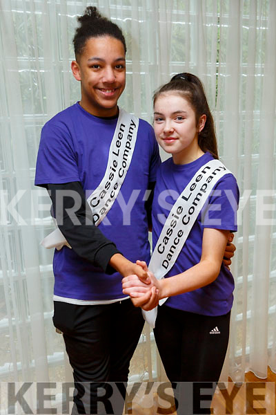 Michael Everett and Ruby Ryle members of the Tralee Musical Society at their 'Strictly Young Dancing' fundraiser launch in the Ballyroe Heights Hotel on Saturday which is being held on February 9th in Ballyroe Hotel.