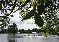 Henley on Thames. United Kingdom.  General View across teh Henley Course, Monday,  27/06/2016,   16:44:45   2016 Henley Royal Regatta, Henley Reach.   [Mandatory Credit Peter Spurrier/ Intersport Images]
