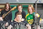 IRISH PRIDE: Member's of Fear of the South who  played at the KDYS Fall Festival in Tralee Town Square on Sunday l-r: Damien O? Slatraigh, Paul MacAntsaoighir, Sea?n O? Tiarnaigh and Seamus O? Su?illeabha?in..