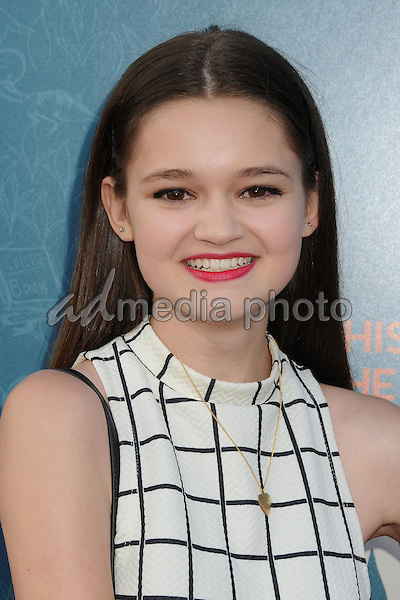 "3 June 2015 - West Hollywood, California - Ciara Bravo. ""Me And Earl And The Dying Girl"" Los Angeles Premiere held at the Harmony Gold Theatre. Photo Credit: Byron Purvis/AdMedia"