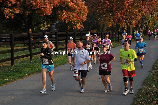 2012 Iron Horse Half Marathon, <br /> Midway, Kentucky  October 14, 2012<br /> Photo by Tom Moran