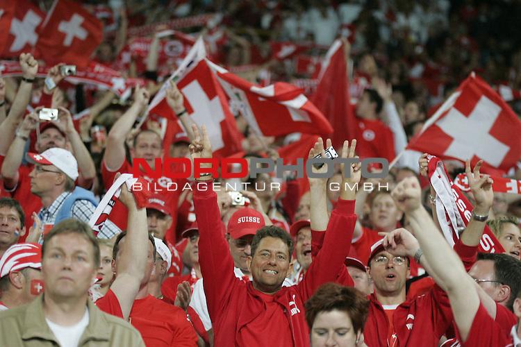 FIFA WM 2006 - Gruppe G ( Groupe G )<br /> Play  #46 (23-Jun) - Schweiz vs Suedkorea in Hannover<br /> Jubel. Spielende<br /> <br /> <br /> Foto &copy; nordphoto <br /> <br />  *** Local Caption ***