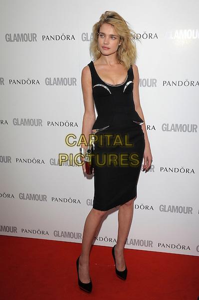Natalia Vodianova .Women Of The Year 2012 - Glamour Awards, Berkeley Square, London, England..29th May 2012.full length dress black  silver peplum.CAP/PL.©Phil Loftus/Capital Pictures.
