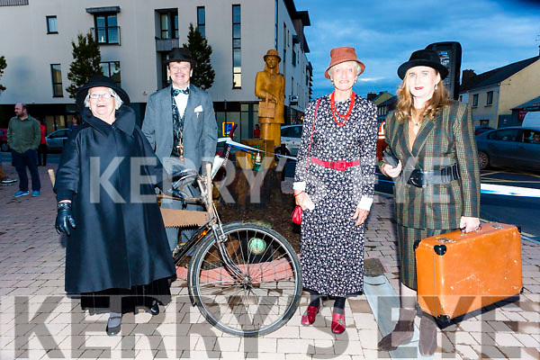 Eileen McGillicuddy, Pat O'Shea, Marie Claire Stacey and Joan O'Shea at the unveiling of the statue in Killorglin Saturday night