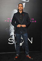 www.acepixs.com<br /> <br /> April 3 2017, LA<br /> <br /> Tatanka Means arriving at the premiere of AMC's 'The Son' at the ArcLight Hollywood on April 3, 2017 in Hollywood, California. <br /> <br /> By Line: Peter West/ACE Pictures<br /> <br /> <br /> ACE Pictures Inc<br /> Tel: 6467670430<br /> Email: info@acepixs.com<br /> www.acepixs.com