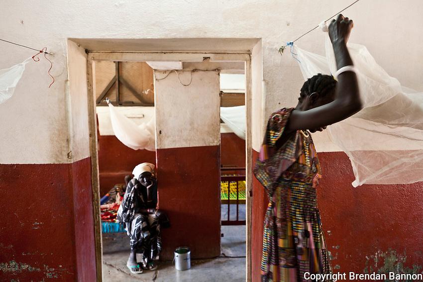 MSF's hospital ward in Nasir, South Sudan.