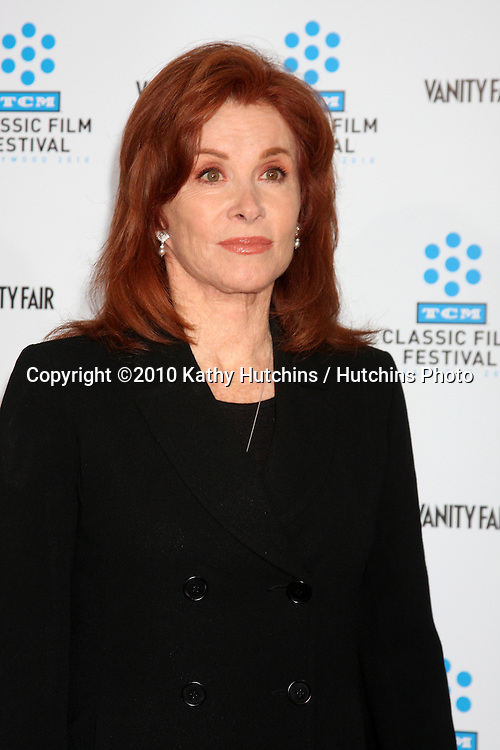".Stephanie Powers.arrives at the ""A Star is Born"" Restored Print World Premiere , part of the Turner Classic Movie Channel Classic Movie Festival.Grauman'S Chinese.Los Angeles, CA.April 22, 2010.©2010 Kathy Hutchins / Hutchins Photo..."
