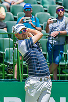 Bernd Wiesberger (AUT) on the 1st tee on the 1st tee during the first round at the Nedbank Golf Challenge hosted by Gary Player,  Gary Player country Club, Sun City, Rustenburg, South Africa. 14/11/2019 <br /> Picture: Golffile | Tyrone Winfield<br /> <br /> <br /> All photo usage must carry mandatory copyright credit (© Golffile | Tyrone Winfield)