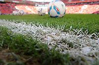 FUSSBALL   1. BUNDESLIGA   SAISON 2011/2012    10. SPIELTAG Bayer 04 Leverkusen - FC Schalke 04                        23.10.2011 Baelle an Seitenlinie in der BayArena