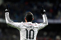 James of Real Madrid during La Liga match between Real Madrid and Sevilla at Santiago Bernabeu Stadium in Madrid, Spain. February 04, 2015. (ALTERPHOTOS/Caro Marin) /NORTEphoto.com