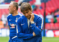 Arsenal v Chelsea FA Community Shield A disappointed looking Antonio Conte manager of Chelsea during the FA Community Shield match at Wembley Stadium, London <br /> Foto  Liam McAvoy/FocusImage/Imago/Insidefoto