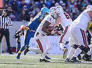 Annapolis, MD - December 28, 2017: Virginia Cavaliers running back Jordan Ellis (1) runs the ball during the game between Virginia and Navy at  Navy-Marine Corps Memorial Stadium in Annapolis, MD.   (Photo by Elliott Brown/Media Images International)