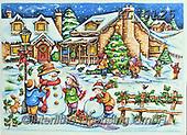 Interlitho-Theresa, CHRISTMAS SANTA, SNOWMAN, WEIHNACHTSMÄNNER, SCHNEEMÄNNER, PAPÁ NOEL, MUÑECOS DE NIEVE, paintings+++++,santa, landscape,KL6125,#x#