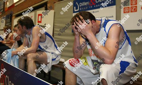 2010-04-29 / Basketbal / seizoen 2009-2010 / Teleurstelling bij Kangoeroes-Boom na het nipte verlies..Foto: mpics