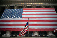 NEW YORK, NY - APRIL 20: The New York Stock Exchange building is photographed on April 20, 2020. in New York City. United States. U.S. President Trump is looking to get many Americans back to work as soon as possible, but also he recognizes that cities like New York will need to go slow. (Photo by Eduardo MunozAlvarez/VIEWpress)