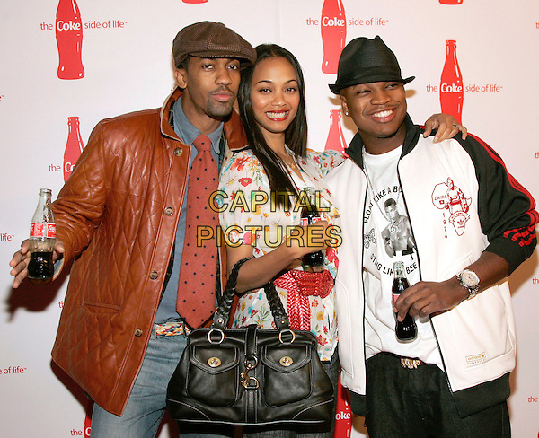 "FARNSWORTH BENTLY, ZOE SALSANA, & NE-YO.at Coca-Cola's ""Coke Side Of Life"" Launch Party with a Performance by Ne-Yo at Capitale, New York, NY, USA,.30 March 2006..half length .Ref: ADM/JL.www.capitalpictures.com.sales@capitalpictures.com.©AdMedia/Capital Pictures."