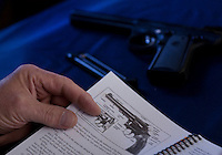 """Venture Scouts pistol instruction. From a picture story I worked on called """"Young Guns."""""""
