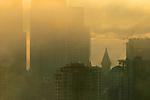 Seattle, Smith Tower, fog, sunrise, Pacific Northwest, Washington State, USA,