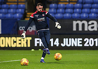 Bolton Wanderers' Remi Matthews warming up before the match   <br /> <br /> Photographer Andrew Kearns/CameraSport<br /> <br /> The EFL Sky Bet Championship - Bolton Wanderers v Reading - Tuesday 29th January 2019 - University of Bolton Stadium - Bolton<br /> <br /> World Copyright © 2019 CameraSport. All rights reserved. 43 Linden Ave. Countesthorpe. Leicester. England. LE8 5PG - Tel: +44 (0) 116 277 4147 - admin@camerasport.com - www.camerasport.com