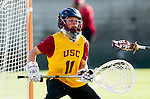 Los Angeles, CA 02/09/13 - Liz Shaeffer (USC #11) in action during the Northwestern vs USC NCAA Women Lacrosse game at the Los Angeles Colliseum.