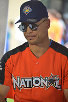 MIAMI, FL - JULY 11: Miami Marlin's Outfielder Giancarlo Stanton attends the All-Star Week Legacy Project with A-Rod & Giancarlo Stanton at Boys & Girls Clubs of Miami-Dade on July 11, 2017 in Miami, Florida. Credit: MPI10 / MediaPunch