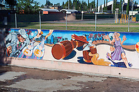 """Illusion of Prosperity"" Great Wall Mural, Los Angeles, CA, Tujunga Wash San Fernando Valley, Los Angeles, CA"