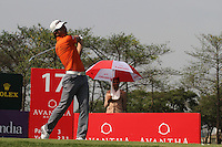 Liang Wenchong (CHN) on the 17th during Round 3 of the 2013 Avantha Masters, Jaypee Greens Golf Club, Greater Noida, Delhi, 16/3/13..(Photo Jenny Matthews/www.golffile.ie)