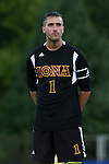 05 September 2015: Iona's Julian Petrello. The Duke University Blue Devils hosted the Iona University Gaels at Koskinen Stadium in Durham, NC in a 2015 NCAA Division I Men's Soccer match. Duke won the game 2-1.