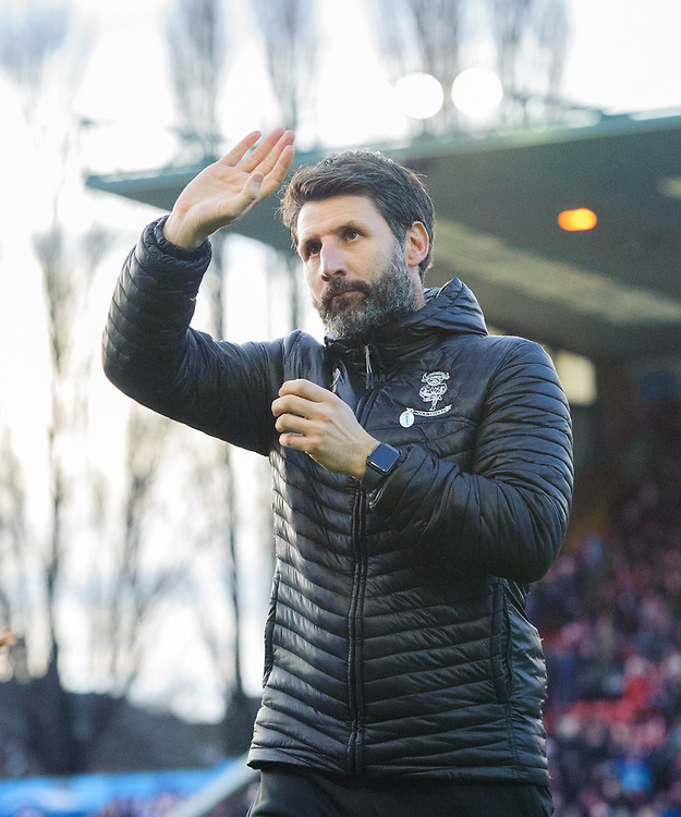 Lincoln City manager Danny Cowley waves to the fans prior to the game<br /> <br /> Photographer Chris Vaughan/CameraSport<br /> <br /> The EFL Sky Bet League Two - Lincoln City v Newport County - Saturday 22nd December 201 - Sincil Bank - Lincoln<br /> <br /> World Copyright © 2018 CameraSport. All rights reserved. 43 Linden Ave. Countesthorpe. Leicester. England. LE8 5PG - Tel: +44 (0) 116 277 4147 - admin@camerasport.com - www.camerasport.com