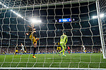 Diego Roberto Godin Leal of Atletico de Madrid reacts as Cristiano Ronaldo of Real Madrid celebrates scoring the third goal for his team during their 2016-17 UEFA Champions League Semifinals 1st leg match between Real Madrid and Atletico de Madrid at the Estadio Santiago Bernabeu on 02 May 2017 in Madrid, Spain. Photo by Diego Gonzalez Souto / Power Sport Images