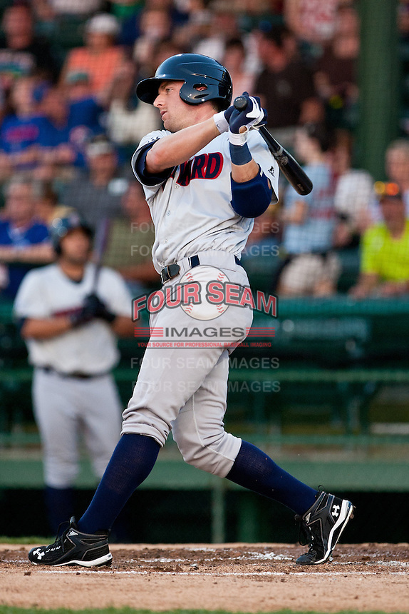 Right Fielder Scott Krieger #25 of the Brevard County Manatees during the game against the Daytona Beach Cubs at Jackie Robinson Ballpark on April 9, 2011 in Daytona Beach, Florida. Photo by Scott Jontes / Four Seam Images