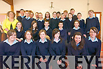 First year students at St Joseph's Secondary School in Ballybunion demonstrating their science skills at the first year science fair and competition. .