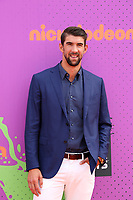 LOS ANGELES - July 13:  Michael Phelps at the Nickelodeon Kids' Choice Sports Awards 2017 at the Pauley Pavilion on July 13, 2017 in Westwood, CA