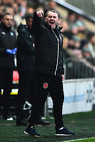 Fleetwood Town manager John Sheridan reacts<br /> <br /> Photographer Richard Martin-Roberts/CameraSport<br /> <br /> The EFL Sky Bet League One - Fleetwood Town v Plymouth Argyle - Saturday 10th March 2018 - Highbury Stadium - Fleetwood<br /> <br /> World Copyright &not;&copy; 2018 CameraSport. All rights reserved. 43 Linden Ave. Countesthorpe. Leicester. England. LE8 5PG - Tel: +44 (0) 116 277 4147 - admin@camerasport.com - www.camerasport.com